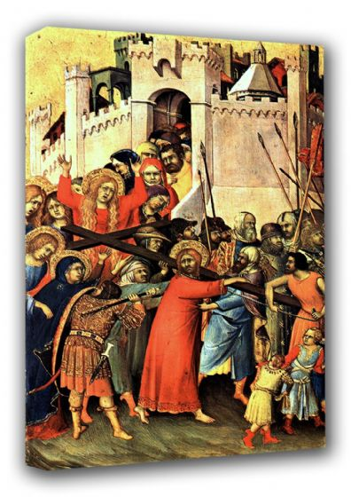 Martini, Simone: Road to Calvary/The Carrying of the Cross. Religious Fine Art Canvas. Sizes: A3/A2/A1 (00126)